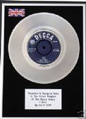 "BILLY FURY -  7"" Platinum Disc -   I WILL"